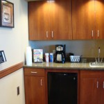 For your convenience, we have a coffee bar, restroom, water fountains and phone.